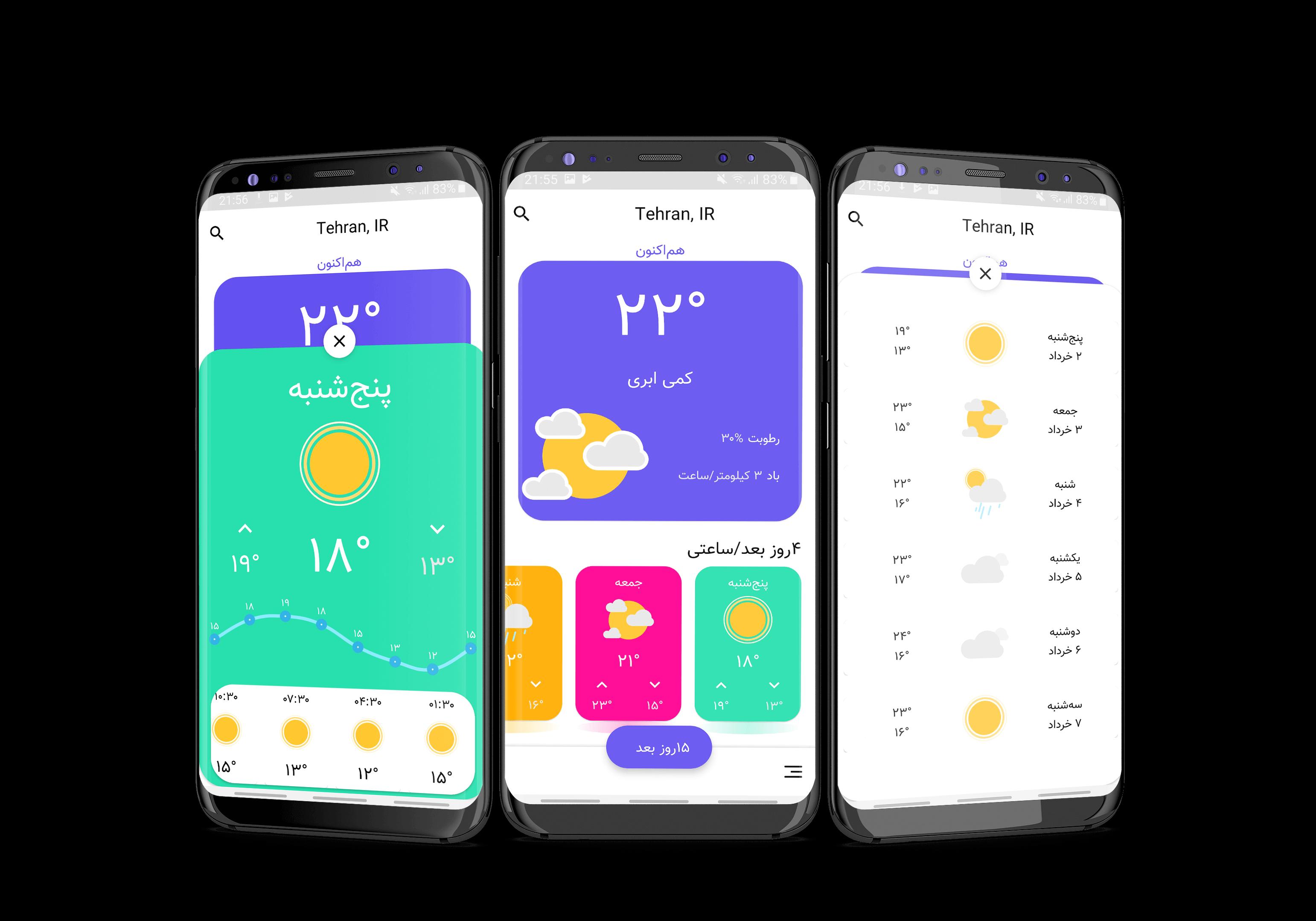 برنامه هواشناسی - داستان ایجاد یک اپلیکیشن اندروید