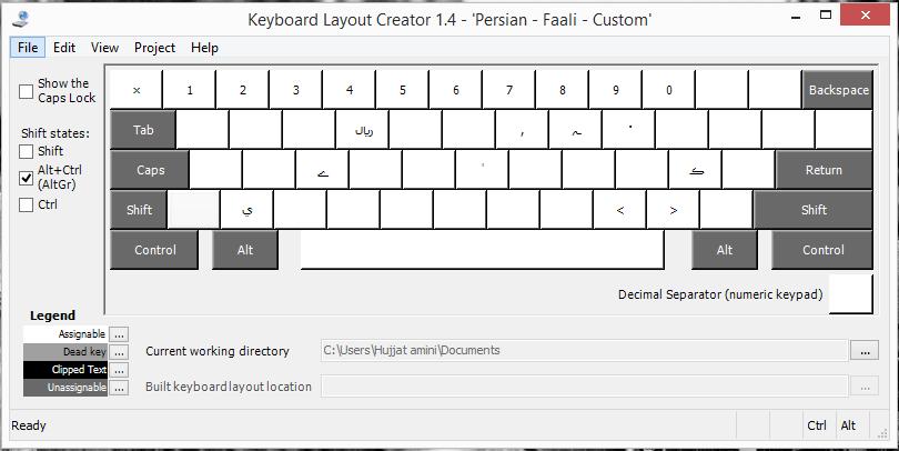 AltGr Keys یا همان Alt+Ctrl Keys