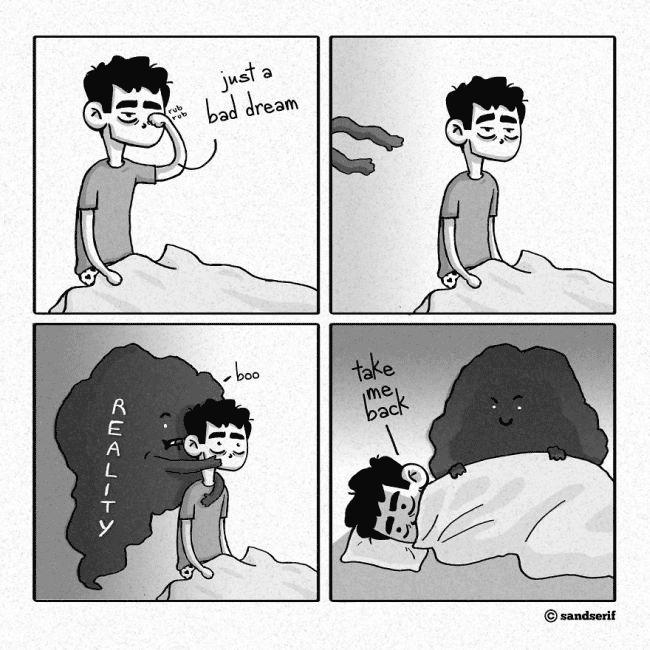 فقط یه خواب بد بود - واقعیت:«بوووم» - منو برگردون (به خواب)