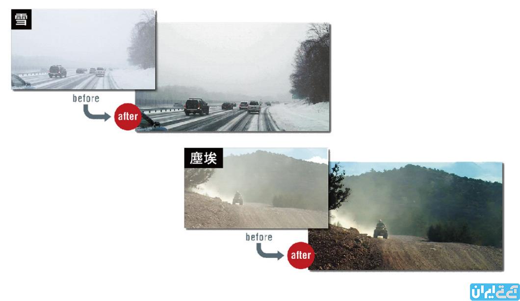تکنولوژی پردازش تصویر برای رانندگی در روزهای برفی