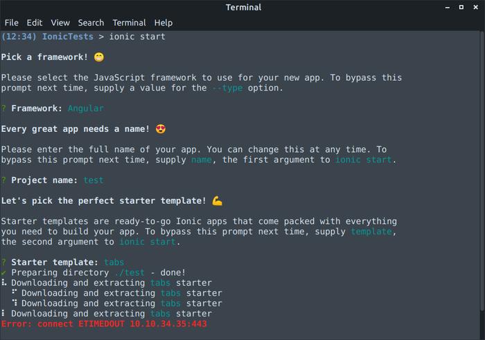 ایجاد پروژه آیونیک در لینوکس علیرغم تحریمها