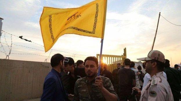 نیروی عراقی در مقابل نیروی مرزبان ایرانی در حال ورود به خاک ایران!