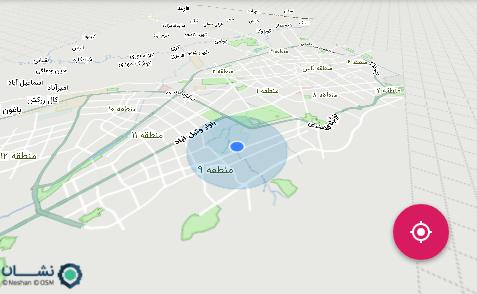 بدست آوردن موقعیت مکانی در SDK اندروید نقشه نشان