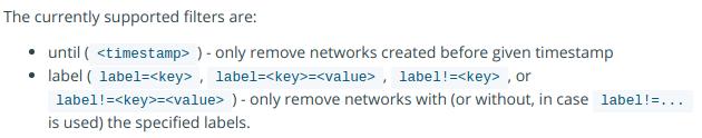 docker network prune --filter