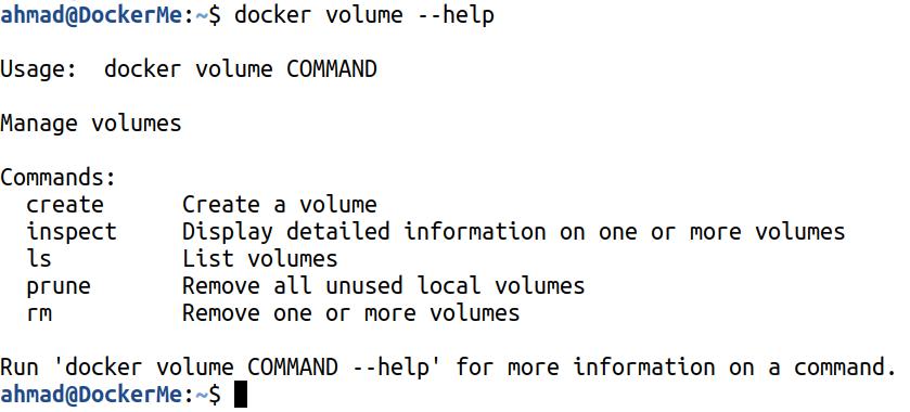۳۱-دستورات مدیریتی داکر- docker volume