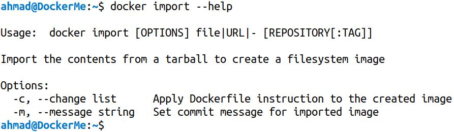 docker import --help