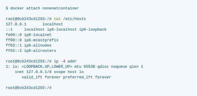 docker network none