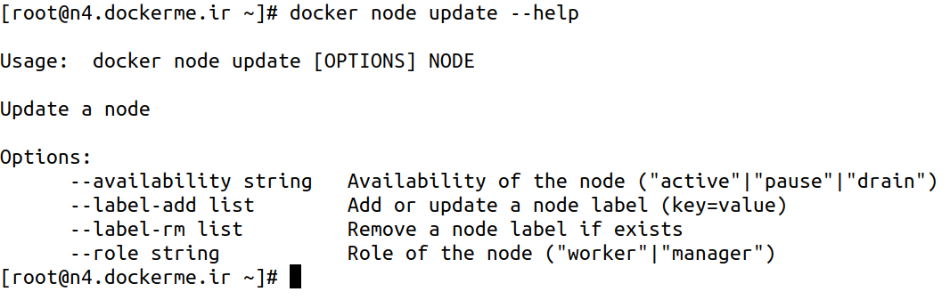 docker node update --help