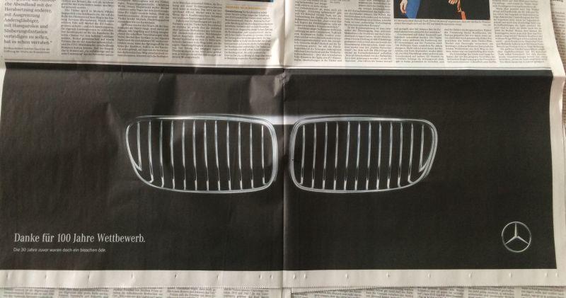طعنه هنرمندانه Mercedes-Benz به BMW