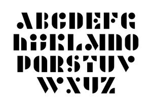طراحی فونت ماژولار (modular typeface design)