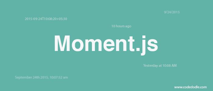 روز چهل و سوم از چالش ۱۰۰ روز کد زدن - Moment.js