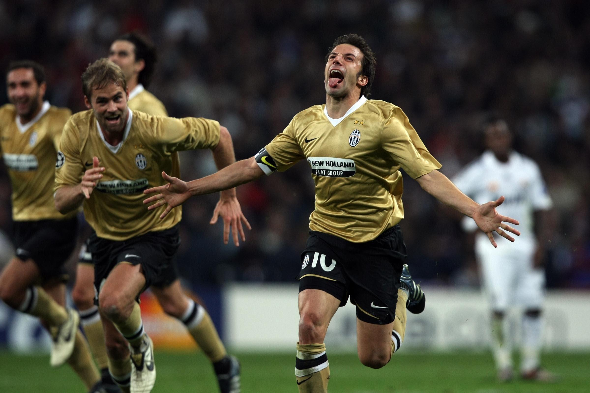 شادی معروف دلپیرو - بازی برگشت یووه-رئال سال ۲۰۰۸