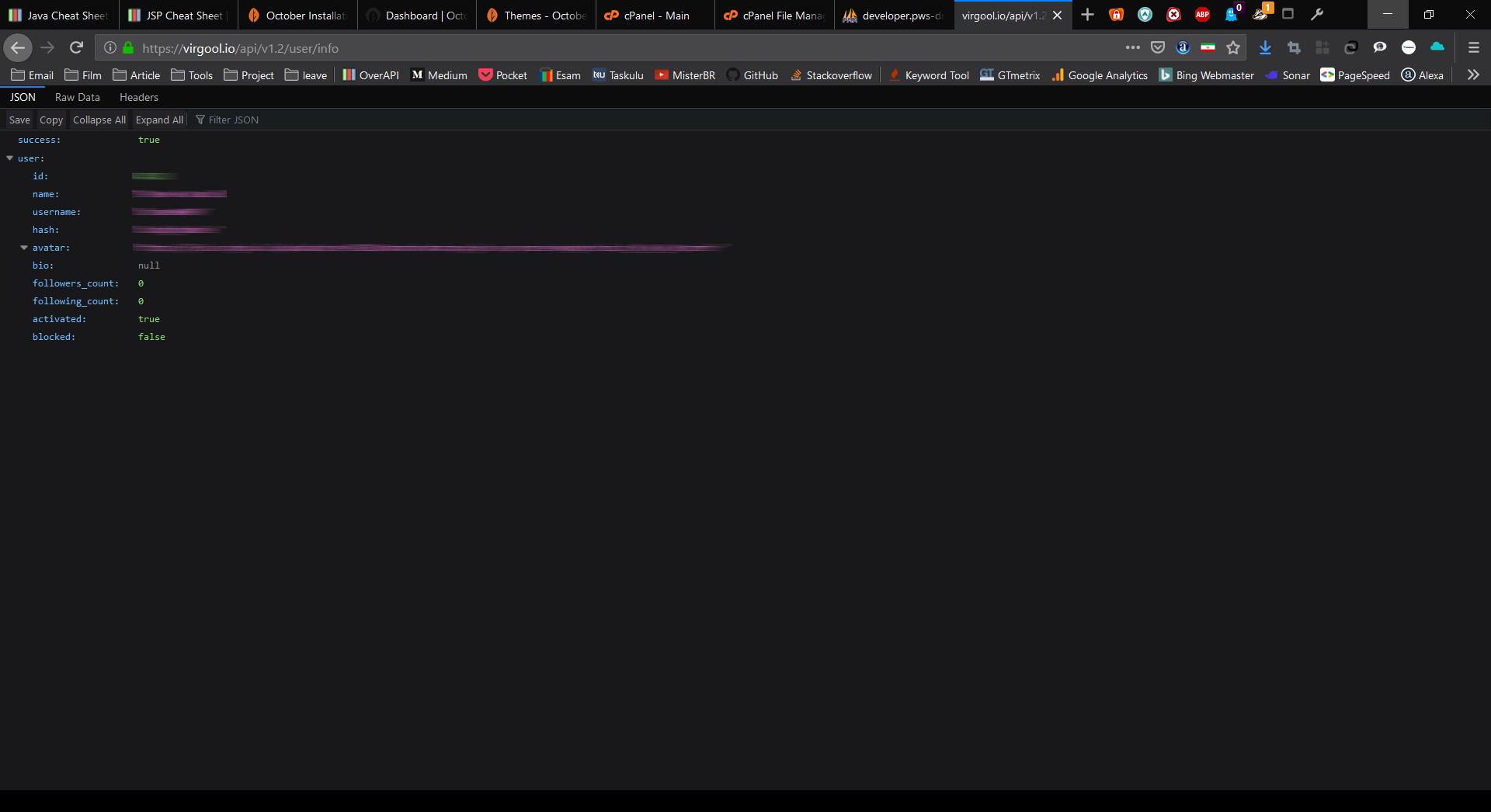 من و اولین دیدارم با API ویرگول!!