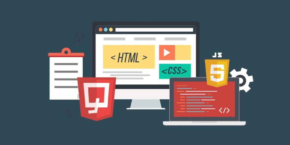 در بخش فرانت اند هسته اصلی از HTML و CSS تشکیل شده است
