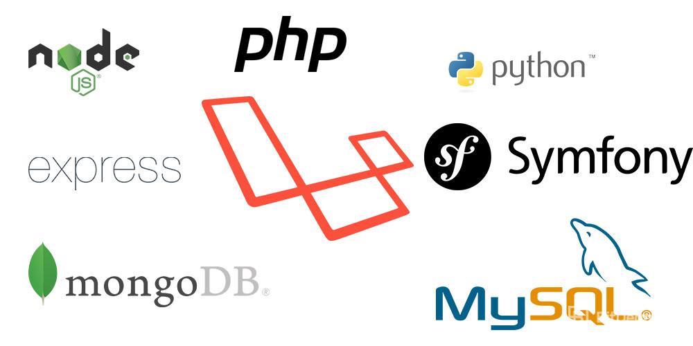 بر خلاف بخش Front در بخش Back end ما شاهد تعداد بسیار گستردهای از زبان ها و ابزارهای برنامه نویسی هستیم