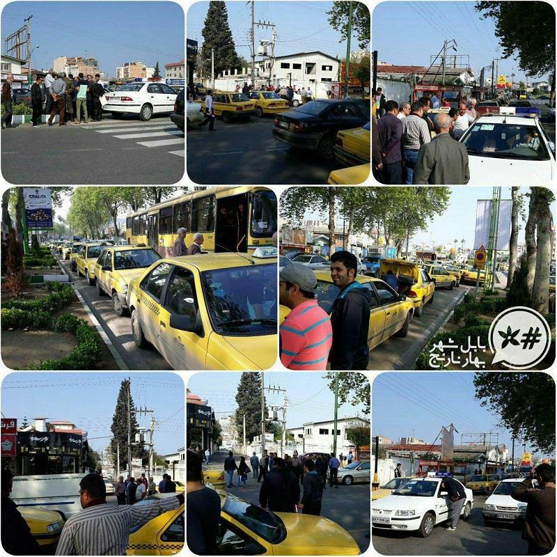 تجمع تاکسیهای سنتی در 20 فروردین 97 مقابل دفتر اسنپ