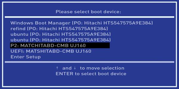 حذف و مدیریت ورودیهای UEFI در کامپیوتر توسط GNU/Linux