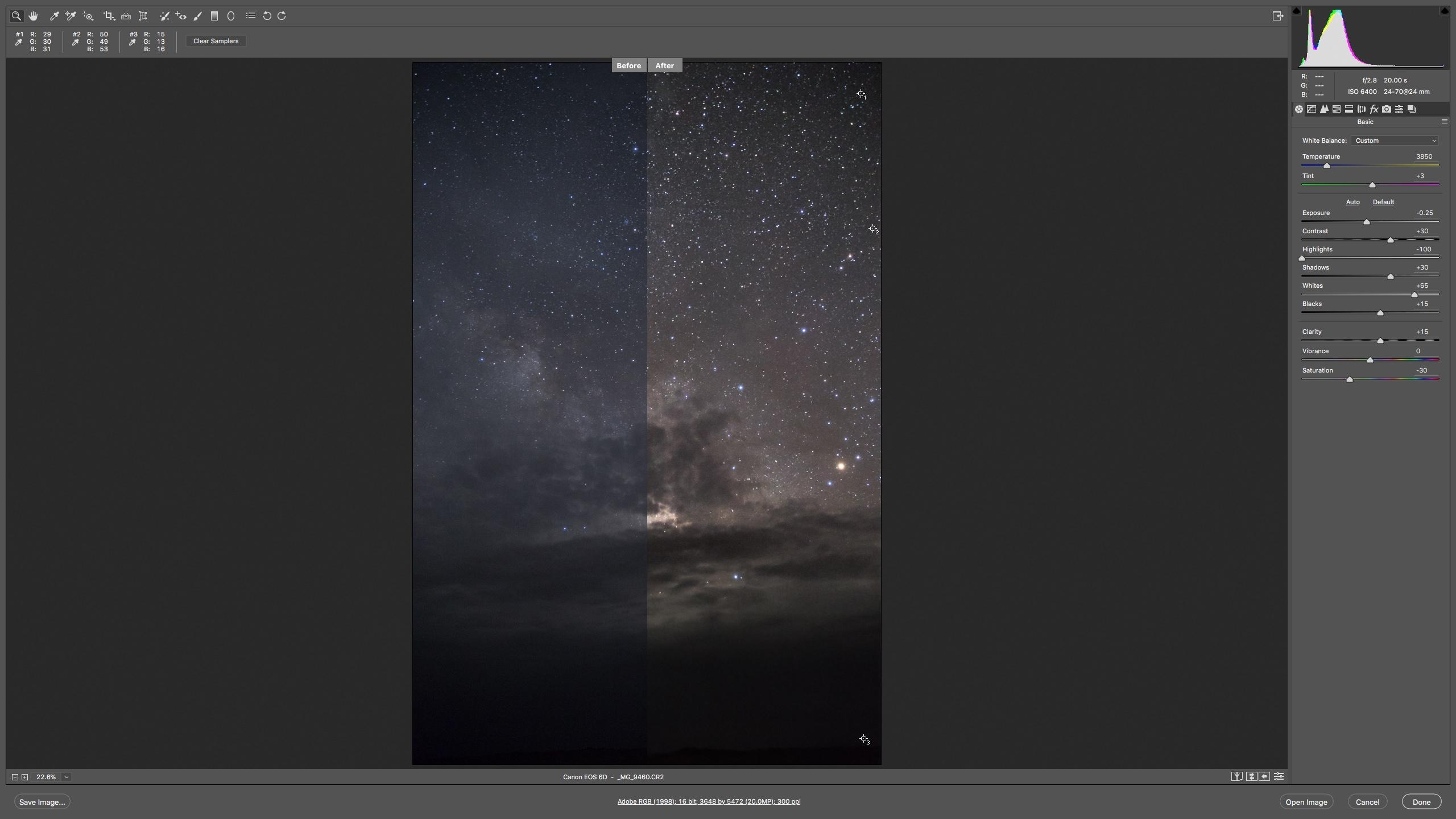 عکس ۱۱: مقایسه پیش و پس از ویرایش عکس