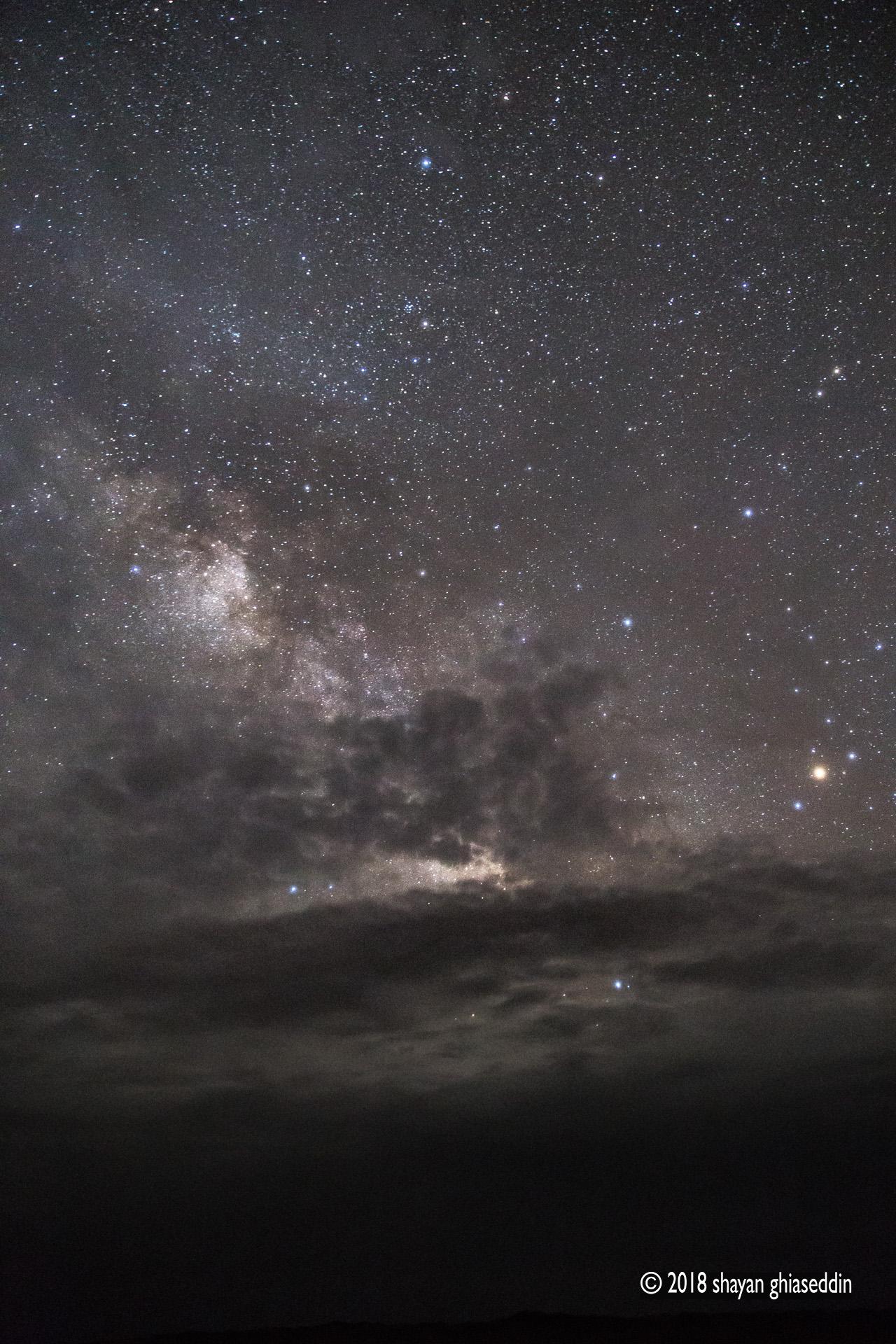 آسمان نیمه ابری توران، استان سمنان - فروردین ۱۳۹۷