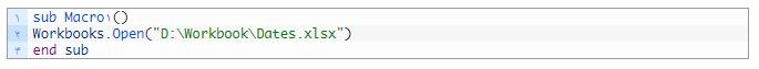 باز کردن فایل اکسل توسط کدهای VBA