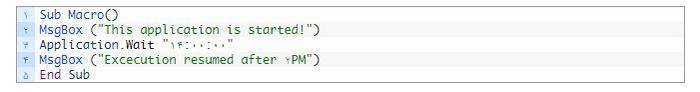 تفاوت دستورات Wait و Ontime در ماکرونویسی اکسل
