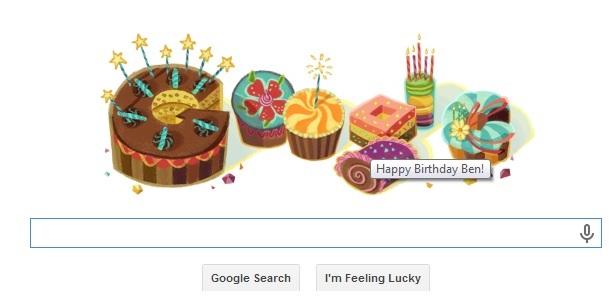 تبریک تولد گوگل
