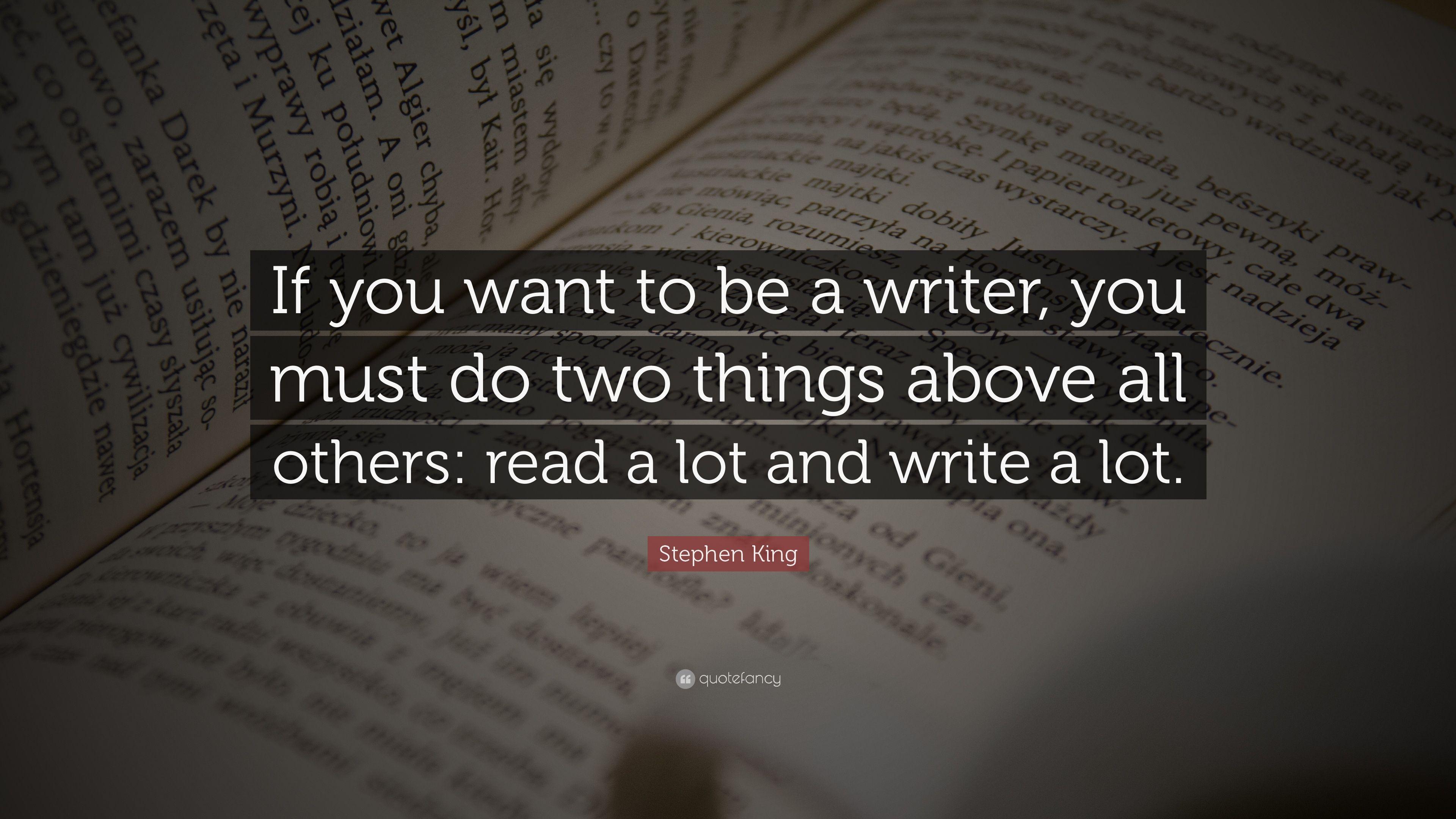 سخنی از استفن کینگ