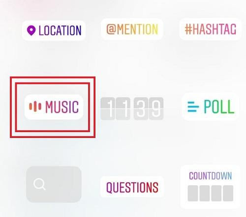 استفاده از قابلیت موزیک در استوری اینستاگرام