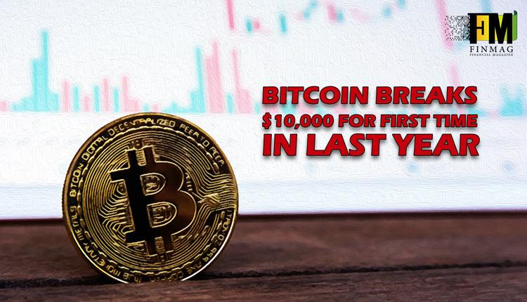 قیمت بیت کوین مرز ۱۰۰۰۰ دلار را پشت سرگذاشت!