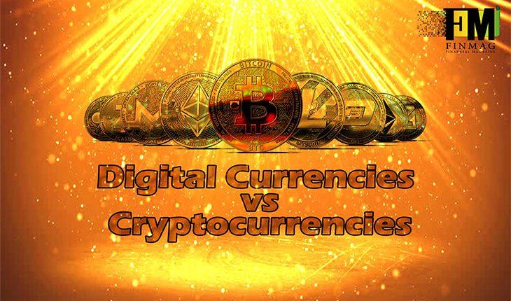 مقایسه ارزهای دیجیتالی با رمز ارز ( ارز رمزنگاری شده )