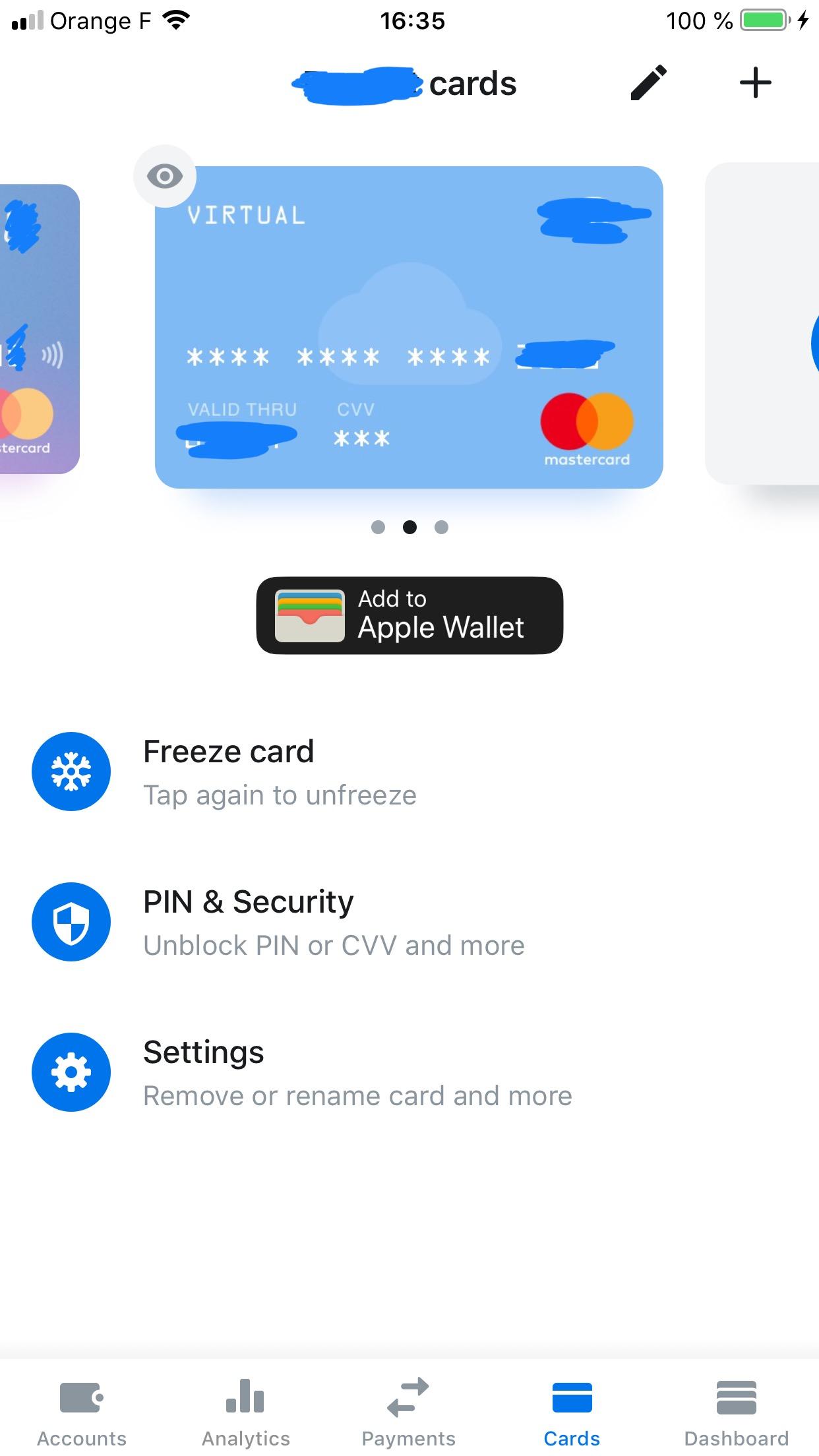 مدیریت کارت مجازی در اپلیکیشن بانکی