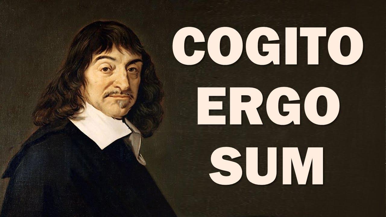 «من میاندیشم، پس هستم» ابتدا توسط دکارت، در «گفتاری در روش» در ۱۶۳۷ بکار برده شد.