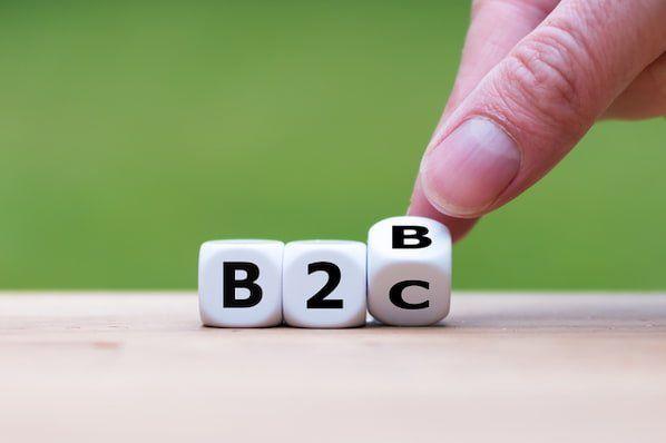 مقایسه فروش و بازاریابی کسب وکارهای B2B , B2C
