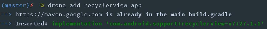 با این دستور recyclerview رو به ماژول app اضافه کردیم.
