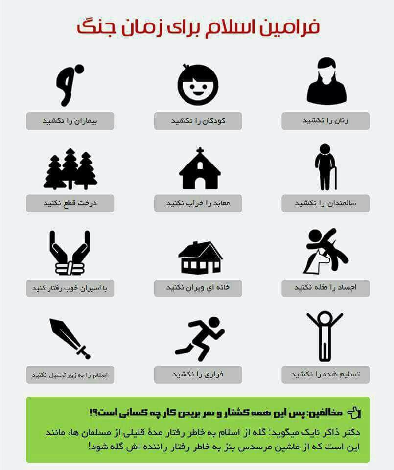 فرامین اسلام برای زمان جنگ