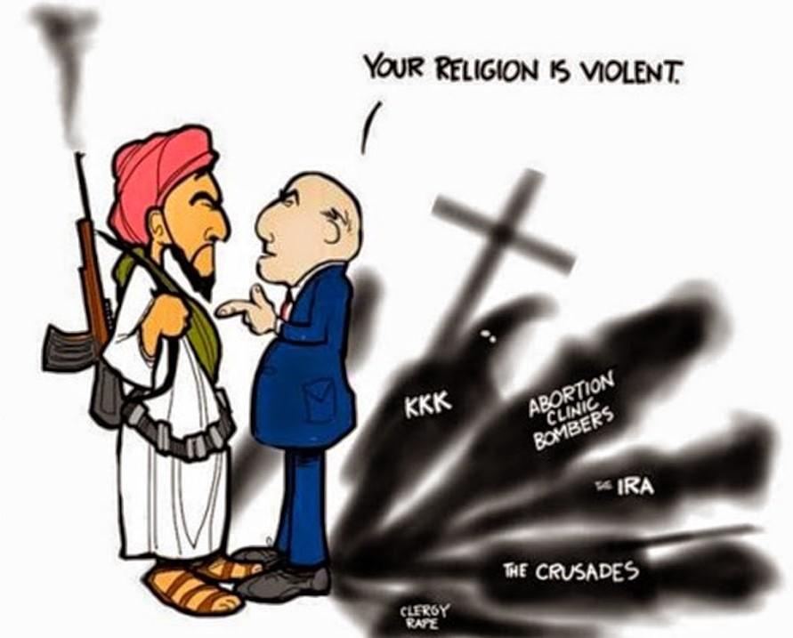 خشونت و داعش و افراطگرایان مذهبی+کاریکاتور