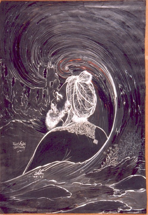 نگارهی فردوسی اثر استاد «حسین بهزاد»