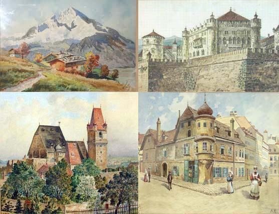 تعدادی از نقاشیهای آدولف هیتلر