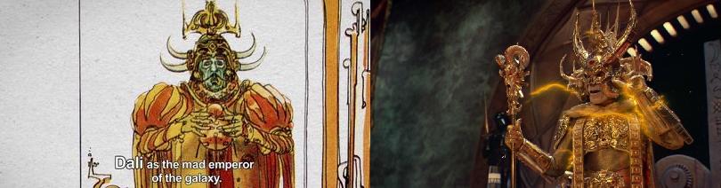 طرح امپراتور خودکامه (با بازی «دالی») عیناً استفاده شده در «اربابان جهان – 1987»