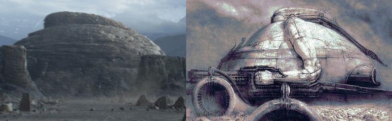 طرح قلعهای در کوه عیناً استفاده شده در «پرومتئوس – 2012»