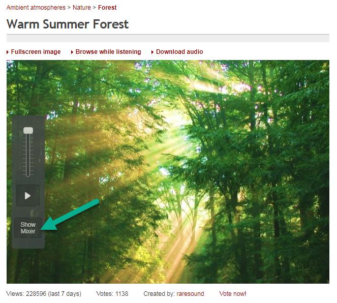 عکس یک آمبیانس آنلاین در وبسایت ambient-mixer
