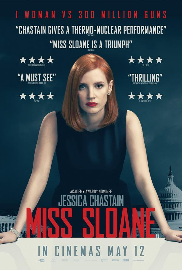 معرفی فیلم Miss Sloane : یک درام هیجان انگیز سیاسی