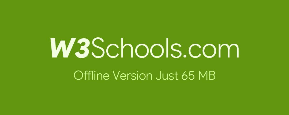 دانلود همه سایت W3Schools بصورت آفلاین