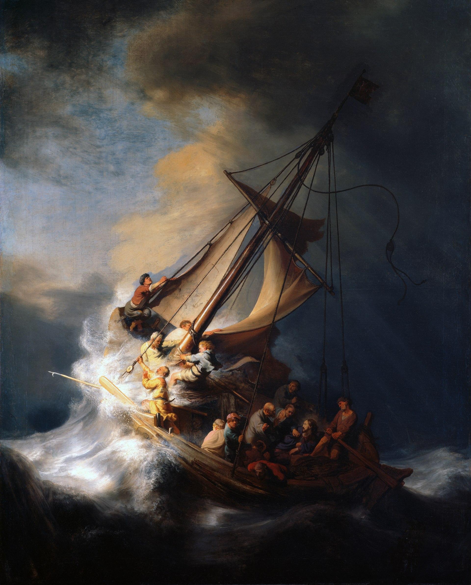 طوفان در دریای جلیل