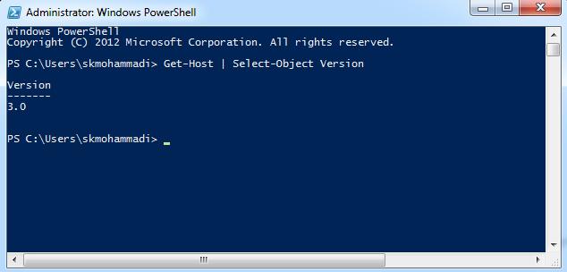 تشخیص نسخه فعلی PowerShell ویندوز