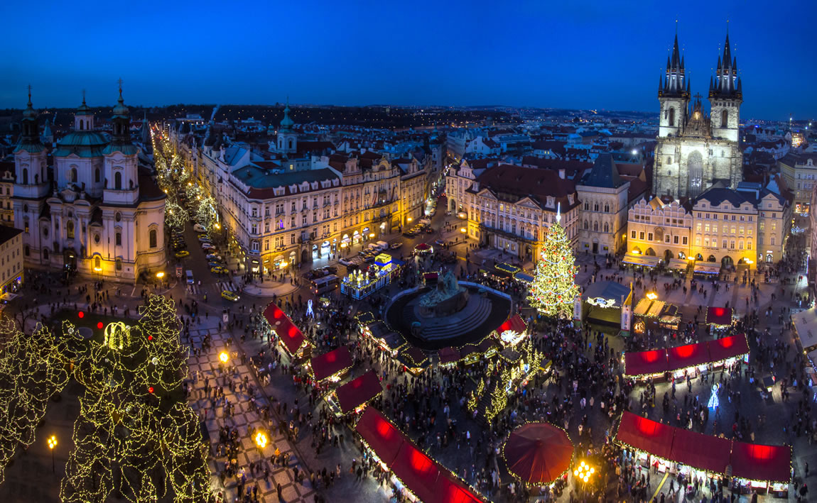 کریسمس مارکت، میدان شهر قدیم، پراگ