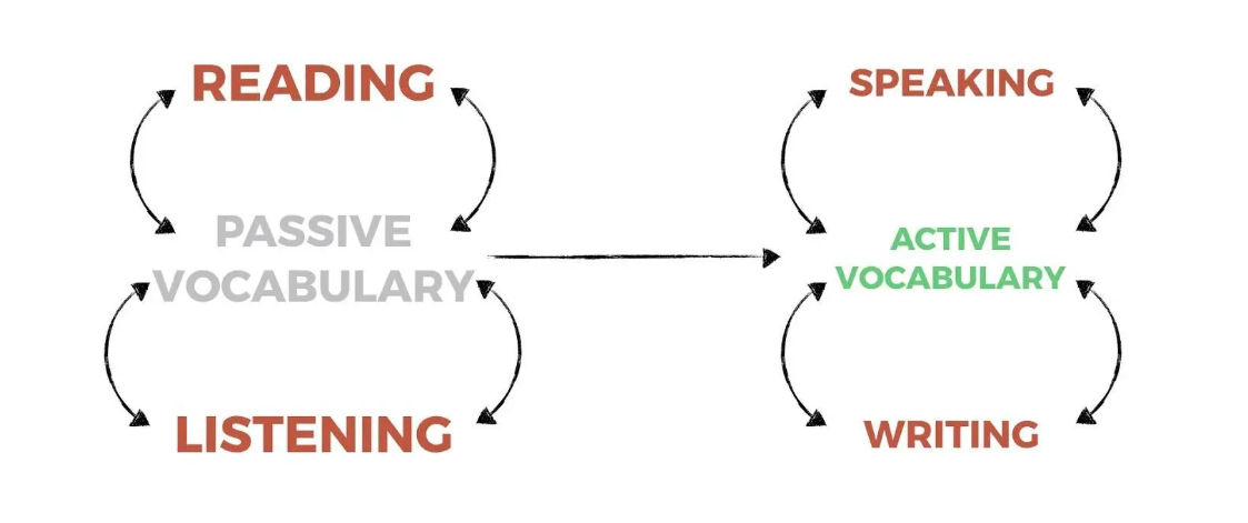 ارتباط مهارتها و کلمات فعال و غیرفعال