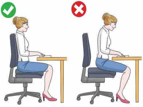 نحوه نشستن صحیح پشت کامپیوتر