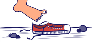 راه رفتن با کفش کاربر