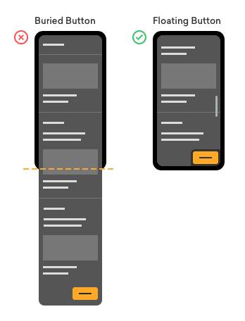 چه موقع از دکمه فراخوانی(call-to-action button)به صورت شناور استفاده کنیم؟
